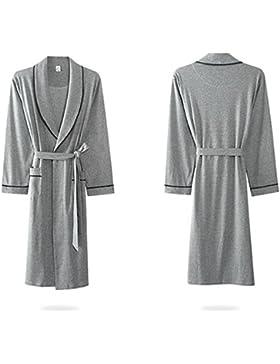 SUxian Gran Albornoz de los Hombres Mangas largas Solapa Albornoz camisón Pijama