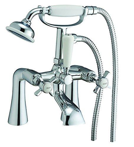 KYLIN Testa a croce tradizionale vittoriano leva vasca da bagno doccia rubinetto miscelatore cromato 6101