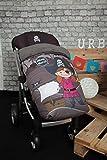 Babyschlafsack für Kinderwagen, universal, mit Fußsack, Fleece