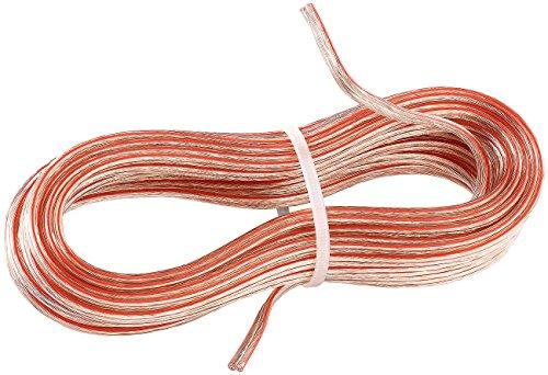 Creasono Altavoz empotrable: Cable de Altavoz, 2x 1,5mm², Longitud 10m (Auto Radio...