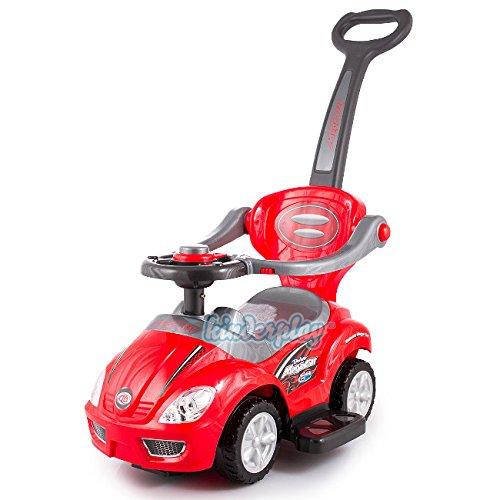 RUTSCHAUTO Rutscher Lauflernwagen Rutschfahrzeug ROT Kinderfahrzeug Kinderauto thumbnail
