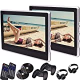 2 x 11,6 Zoll Car-Monitore Digital-TFT-Bildschirm Kopfst¨¹tze DVD-Video-Player Eingebauter Lautsprecher MKV DVD MP4 USB TF HDMI-Anschluss 32 Bits Spiele mit zwei Game Discs