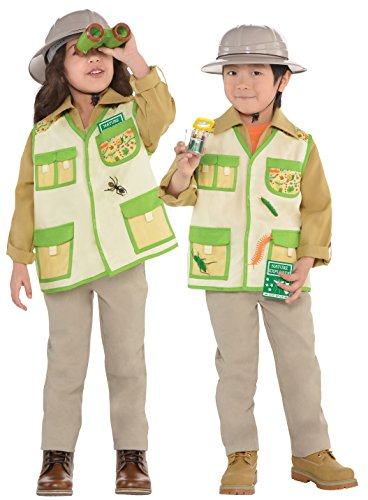 Explorer Kit Kids Fancy Dress Safari Jungle Zoo Keeper Boys Girls Childs (Party Boy Kostüm)