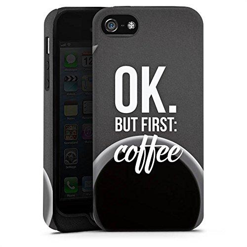 Apple iPhone X Silikon Hülle Case Schutzhülle Kaffee Sprüche Spruch Tough Case matt