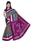 Winza Designer Womens Bhagalpuri Printed cotton silk party wear with blouse saree