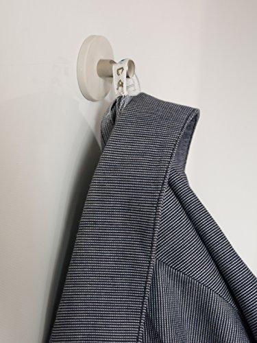 43 mm à fente Blanc, crochet, couleur : blanc, Taille : 43 mm x 6.2 mm d'épaisseur