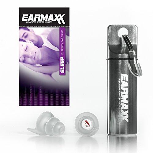 Earmaxx Hearing Protection Sleep - Gehörschutz Ohrstöpsel zum Schlafen mit Alubehälter