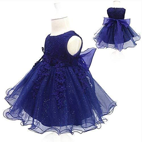 LZH Baby Mädchen Geburtstag Taufe Kleid Taufe Hochzeit Blumen Kleid