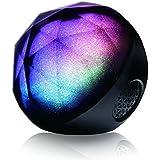 EchoAcc® LED Color Magic Cambio de Altavoz Bluetooth Crystal, Altavoz Recargable, Altavoz Portátil Bluetooth Inalámbrico para Teléfonos Protectores y / Android / Smartphone / Tablets (Negro)