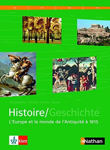 Manuel d'histoire franco-allemand Tome 1 - Version franaise