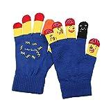 ZHANGYUGEGE Women's Fashion lustig Ausdruck süß verspielt Handschuhe aus Gewirken