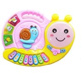 Snail ELF Drum Keyboard Piano With Lights, Music & Many More Functions Learning Toy For Kids - (Multicolor)