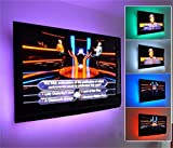 44-key Remote Controlled RGB USB Powered 200cm LED TV Ambient Mood Backlight Bias Lighting 4 Strips