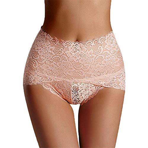 be3290c0648a Koisy Women Seamless Lace Panties Breathable High Waist Butt Lift Briefs  Underwear