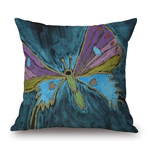 ALovjp - Funda de almohada de 50 x 50 cm (2 lados) para bares, niños, adolescentes, silla, diván, ropa de cama con diseño de mariposa