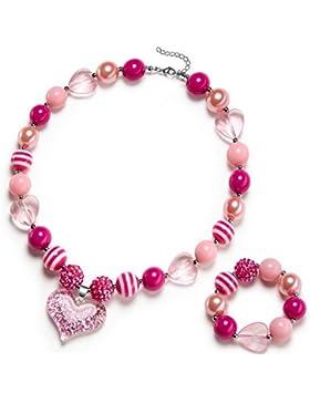 Kinder Chunky Halskette & Armband Fashion Jewelry Set für Mädchen