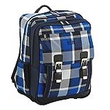4YOU Schulrucksack Schulrucksack Classic Plus Squares Blau (Blue) 11430795200