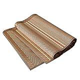 ZTMN Cooling Topper Matratze Sommer Schlafmatte atmungsaktiv komfortabel kühl glatt verschleißfest Faltbare Doppelbett - 2 Kissenbezüge (Größe: 200 x 215 cm)