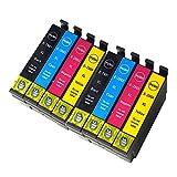 Teng Remplacer pour Epson 29 29XL Cartouches d'encre, Compatible avec Epson Expression Home XP-247 XP 342 XP-345 XP-235 XP-435 XP-245 XP-445 XP-442 XP-332(2 Noir,2 Cyan,2 Magenta,2 Jaune)