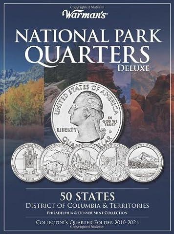 National Park Quarters Deluxe Collector's Quarter Folder 2010-2021: 50 States, District of Columbia & Territories: Philadelphia & Denver Mint