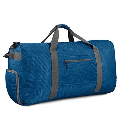 Gonex Leichter Faltbare Reise-Gepäck 60L & 80L & 100L Duffel Taschen Übernachtung Taschen/ Sporttasche für Reisen Sport Gym Urlaub Dunkelblau