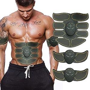 hoco. Bauchmuskeltrainer, EMS Arm Bauch Smart Sticker Fitness ABS-Gerät Werkzeug, Muskeltrainer mit acht Packungen, tragbarer USB-Ladetrainer