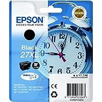 Epson 27XL DURABrite Ultra Negro cartucho de tinta - Cartucho de tinta para impresoras (Epson, 27XL, Negro, WF 36xx / 7110 / 76xx, Alto, Ampolla)