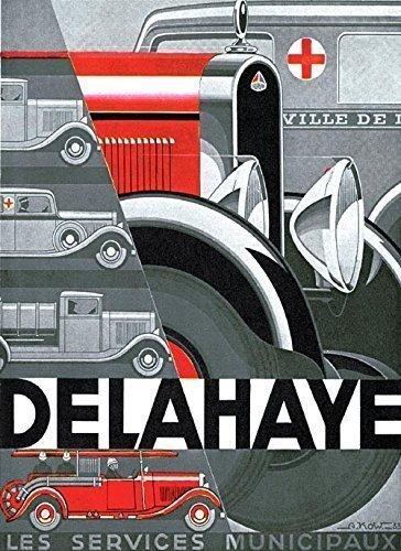 voiture-de-pompier-delahaye-repro-poster-a4