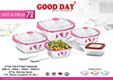 #5: BMS Hot & Fresh Casserole Serving Gift set of 7 Pcs ,Pink