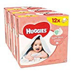 Huggies Soft Skin Baby Wipes - 12 Packs (56 Wipes Per Pack, Total 672 Wipes)