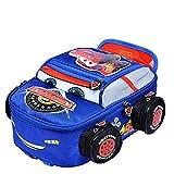 C&NN Kinderrucksack Stereo Auto Cartoon 3D für Jungen und Mädchen,Blue,M