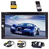 EinCar Doppio 2 DIN 7 '' pollici LCD touch screen stereo Autoradio con lettore CD Supporto DVD GPS Navigation Player vivavoce Bluetooth 1080P film SD USB FM AM RDS incluso un Wireless Rear View Camera + telecomando