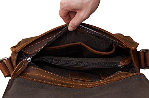 Borsa Da Uomo Borsa Da Viaggio Retro Borsa A Spalla Per Borse Da Telo Per Notebook Da 12 Pollici Nero
