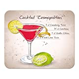 Mauspad Alkohol Retro Cocktail Cosmopolitan Bedruckt Bar Kneipe Restaurant