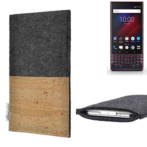 flat.design vegane Handy Hülle Evora für BlackBerry Key 2 LE Dual-SIM Kartenfach Kork Schutz Tasche handgemacht fair vegan