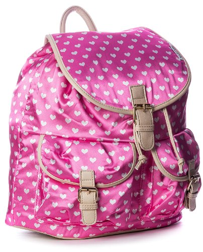 Big Handbag Shop grande zaino da donna a forma di cuore con stampa Rosa (rosa) Excelente Venta En Línea Asequible Para La Venta FXM7m