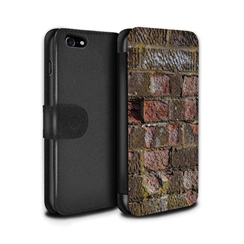 Stuff4 Coque/Etui/Housse Cuir PU Case/Cover pour Apple iPhone 7 / Rouge Design / Maçonnerie Collection Érodé
