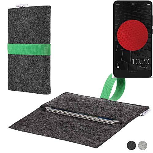 flat.design Handy Hülle Aveiro für Sharp Aquos C10 passgenaue Filz Tasche Case Sleeve Made in Germany