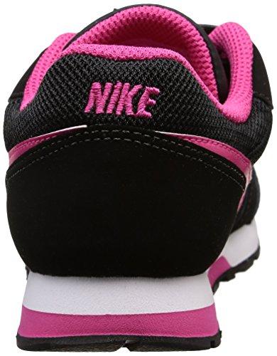 Nike Mädchen Md Runner 2 Laufschuhe, Grau Negro / Rosa / Blanco