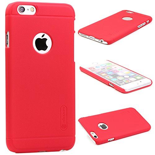 Caseday® Nillkin Frosted Back-Cover für Apple iPhone 6 Plus in Rot Premium Schutz-Hülle Case Edel Smartphone Zubehör Tasche Hartschale Slim