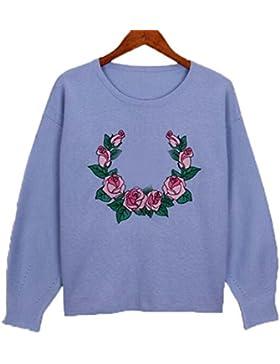 Europa Y Los Estados Unidos De Gran Tamaño De Las Mujeres Bordadas Suéter Traje Suéter De Punto Largo De Punto