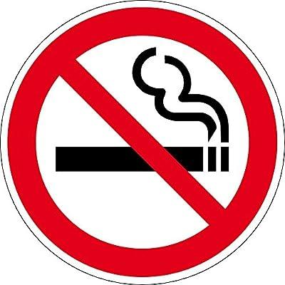 Verbotszeichen - Rauchen verboten - Aluminium Selbstklebend