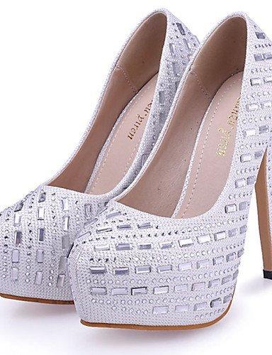 Sapatos De Casamento Calcanhar Festa E Imitação Altos Ouro Branco Festa Rodada Saltos Branco De De Stiletto Shangyi Planalto Sapato Vestido Couro Senhoras 5ZXqc0wPxB
