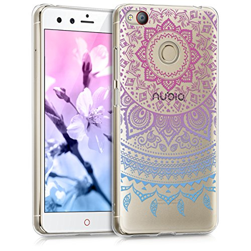 kwmobile ZTE Nubia Z11 Mini s Hülle - Handyhülle für ZTE Nubia Z11 Mini s - Handy Case in Blau Pink Transparent