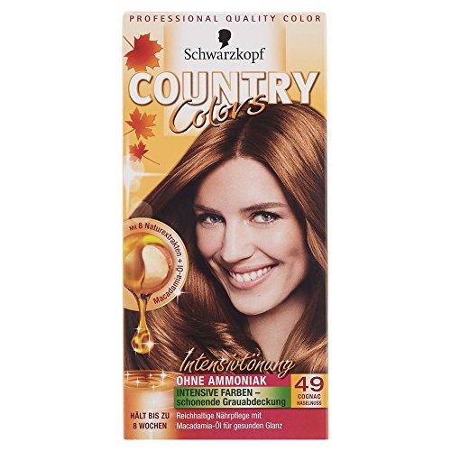Schwarzkopf Country Colors Intensivtönung, 49 Cognac Haselnuss, 1 Stück 122,5 ml