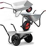 Deuba Zweiradschubkare 120kg/70 Liter - Schubkarre Gartenkarre Baukarre