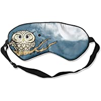 Comfortable Sleep Eyes Masks Owl Moon Pattern Sleeping Mask For Travelling, Night Noon Nap, Mediation Or Yoga preisvergleich bei billige-tabletten.eu