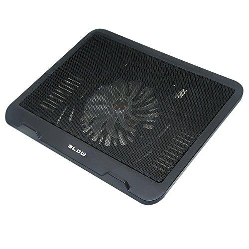 Preisvergleich Produktbild BLOW Laptop Kühler Notebook Cooler Ständer Kühlpad Kühlmatte Blaue Beleuchtung (Schwarz)