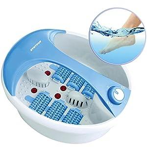 Syntrox Germany Fußsprudelbad Fuss-Reflexzonenmassage Massagegerät FSB-450W Relax mit Infrarotlicht, Vibrations-Sprudelmassage, Wasserheizung