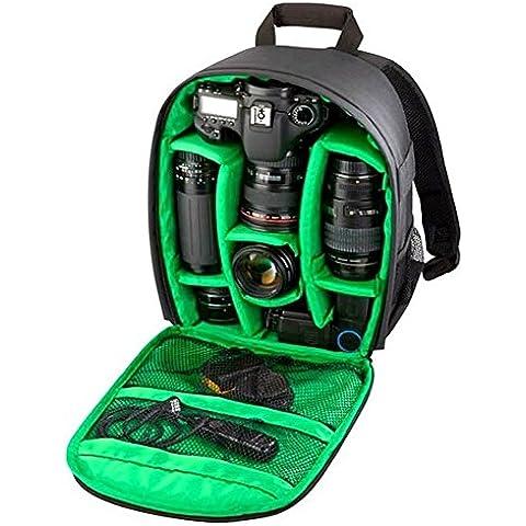 fbshop (TM) Muti-function Zaino per fotocamera DSLR SLR Camera Bag Video Zaino imbottito Inserto Impermeabile Borsa Per Fotocamere Canon, Nikon, Sony, Olympus, Samsung, Panasonic, Pentax